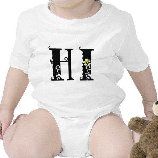 HOLA icono del hibisco de Hawaii Camiseta