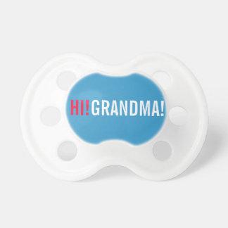 Hola invitación del embarazo de la abuela - azul chupetes