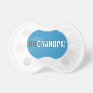 Hola invitación del embarazo del abuelo - azul chupetes para bebes