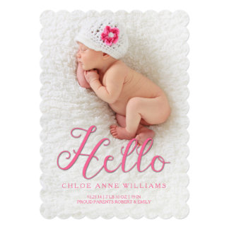 Hola invitación ideal Photocard del nacimiento de