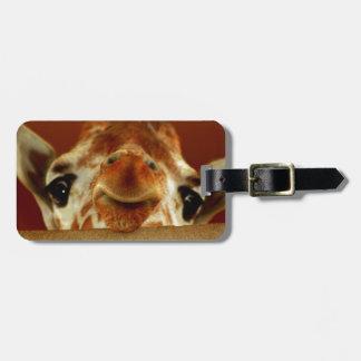 Hola jirafa etiqueta de maleta