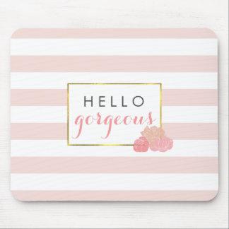 Hola la raya rosada magnífica de Mousepad y se