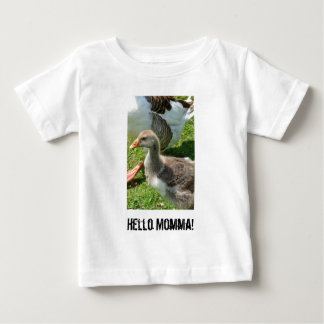 Hola la ropa del niño tonto de Momma Playera De Bebé