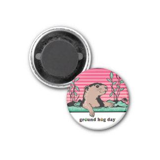 Hola, la sombra de Groundhog - Imán Redondo 3 Cm