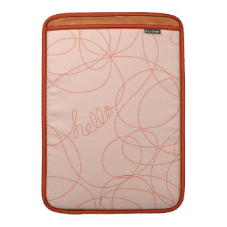 Hola líneas mandarina rosada fundas macbook air