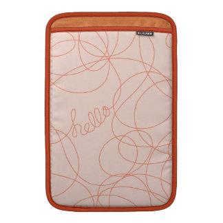 Hola líneas mandarina rosada fundas MacBook