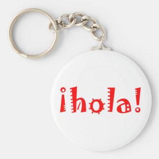 Hola Llavero Redondo Tipo Pin
