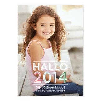 """Hola los neues 2014 Jahr fotokarten Invitación 5"""" X 7"""""""