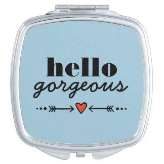 Hola magnífico - adulación azul a cada cara espejo de viaje