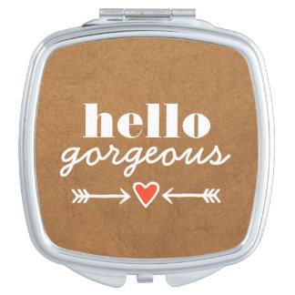 Hola magnífico - adulación blanca a cada cara espejos compactos
