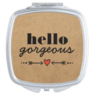 Hola magnífico - adulación rústica a cada cara espejo de maquillaje