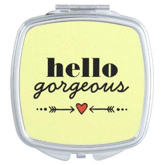 Hola magnífico - amarillo que adula a cada cara espejos para el bolso