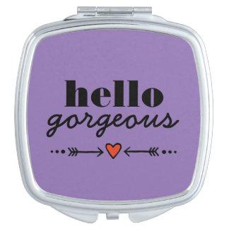 Hola magnífico - lavanda que adula a cada cara espejos maquillaje