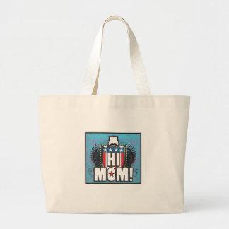 Hola mamá bolsa tela grande