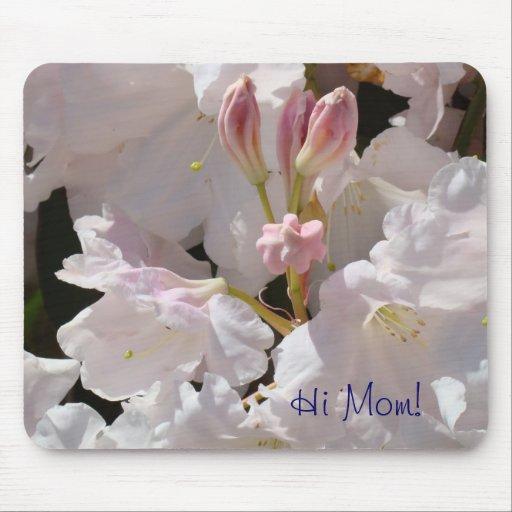 ¡Hola mamá! rododendros rosados de los regalos del Tapetes De Ratones