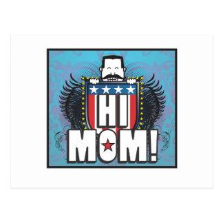 Hola mamá tarjeta postal