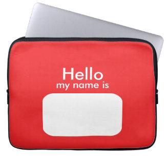 Hola manga blanca roja del ordenador portátil del funda ordendadores