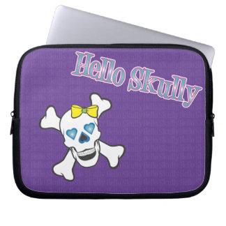 Hola manga púrpura del ordenador portátil de Skull Mangas Computadora