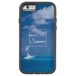 Hola mar del Caribe de la turquesa del cielo azul Funda De iPhone 6 Tough Xtreme