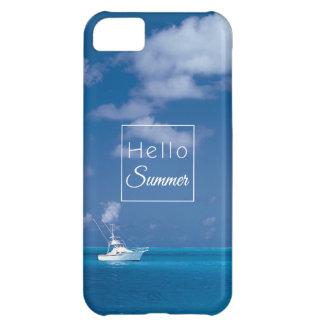 Hola mar del Caribe de la turquesa del cielo azul Funda Para iPhone 5C