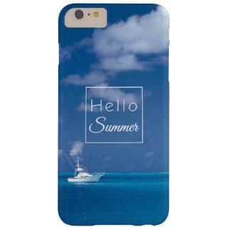 Hola mar del Caribe de la turquesa del cielo azul Funda Para iPhone 6 Plus Barely There