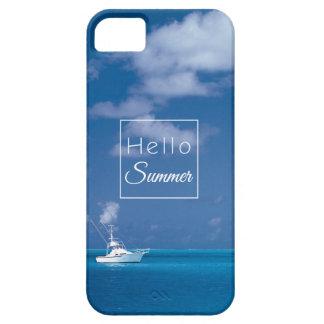 Hola mar del Caribe de la turquesa del cielo azul iPhone 5 Funda