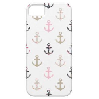 ¡Hola marinero! Anclas náuticas femeninas del vint iPhone 5 Cárcasas