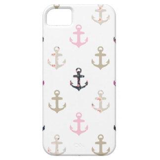 ¡Hola marinero! Anclas náuticas femeninas del vint iPhone 5 Protectores