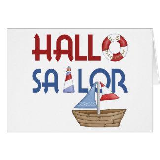 Hola marinero tarjeta de felicitación