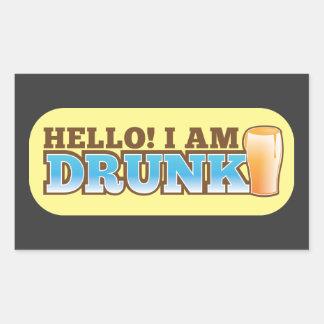 ¡Hola me BEBEN! de la tienda de la cerveza Pegatina Rectangular