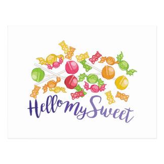 Hola mi dulce tarjeta postal