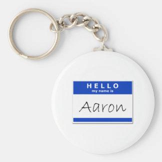 Hola mi nombre es Aaron Llaveros Personalizados