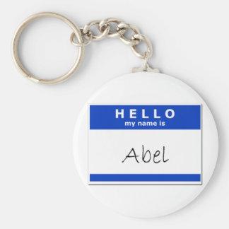 Hola mi nombre es Abel Llavero Personalizado