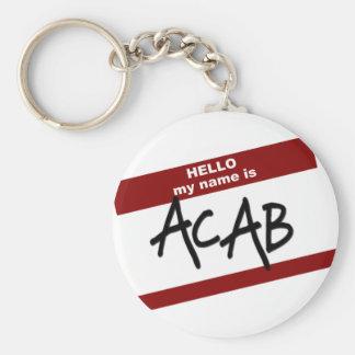 Hola mi nombre es ACAB Llavero Personalizado