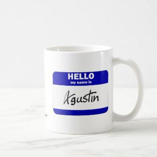 Hola mi nombre es Agustin (azul) Tazas De Café