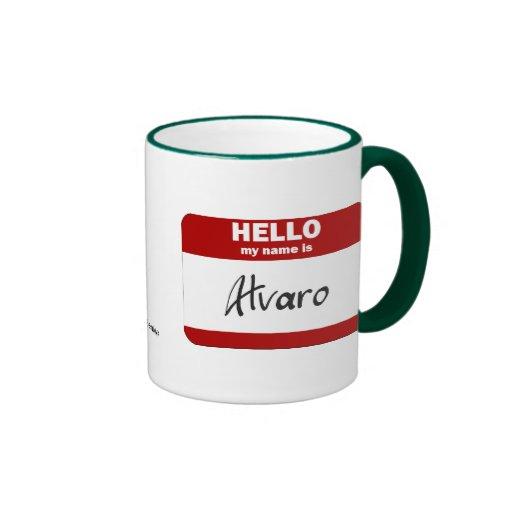 Hola mi nombre es Álvaro (rojo) Tazas