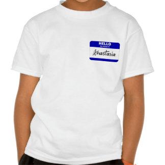 Hola mi nombre es Anastasia (azul) Camisetas