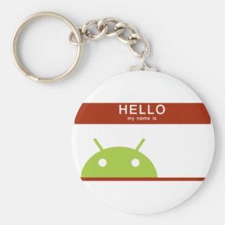 hola mi nombre es androide llaveros
