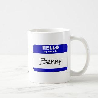 Hola mi nombre es Benny (azul) Taza Clásica
