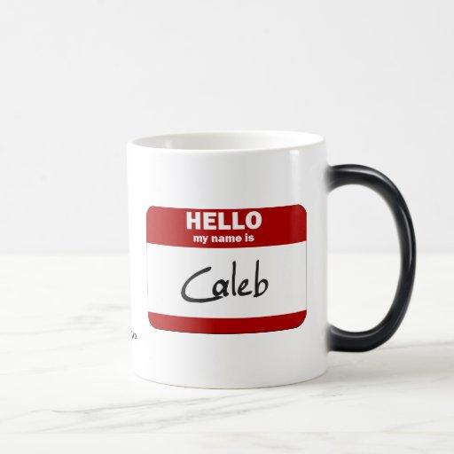 Hola mi nombre es Caleb (rojo) Tazas De Café