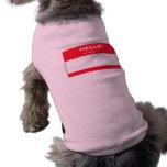 Hola mi nombre es camisa rosada de encargo del per ropa de perros