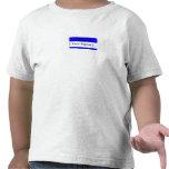Hola, mi nombre es… camiseta conocida azul del niñ