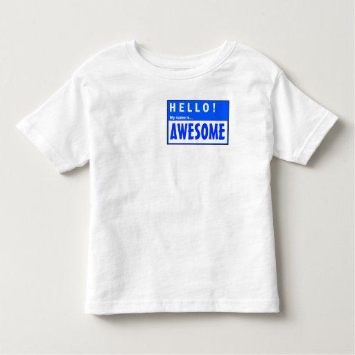 ¡Hola! Mi nombre es camiseta linda impresionante