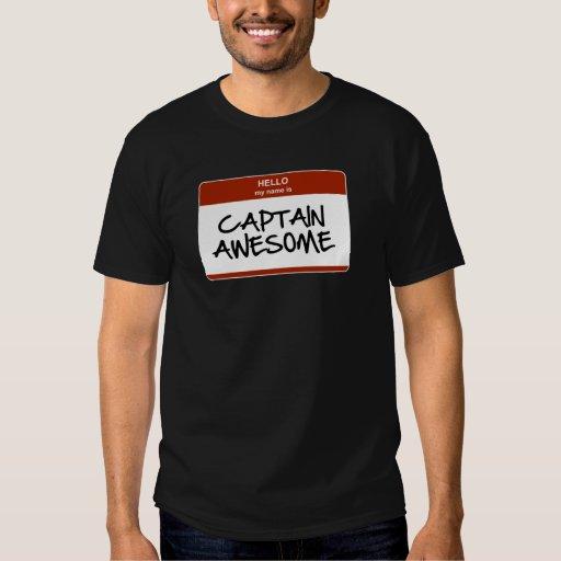 Hola mi nombre es capitán Awesome T-Shirt Poleras