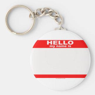 Hola mi nombre es copia EN BLANCO Llavero Redondo Tipo Pin