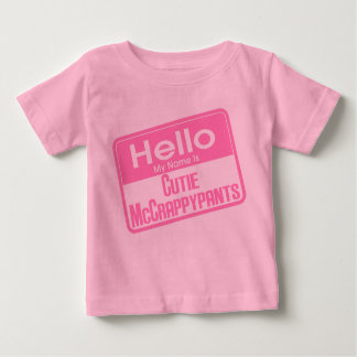 Hola mi nombre es Cutie McCrappypants Playera