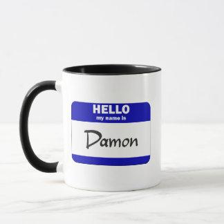 Hola mi nombre es Damon (azul) Taza