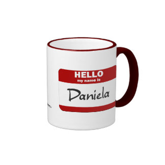 Hola mi nombre es Daniela (roja) Taza De Dos Colores