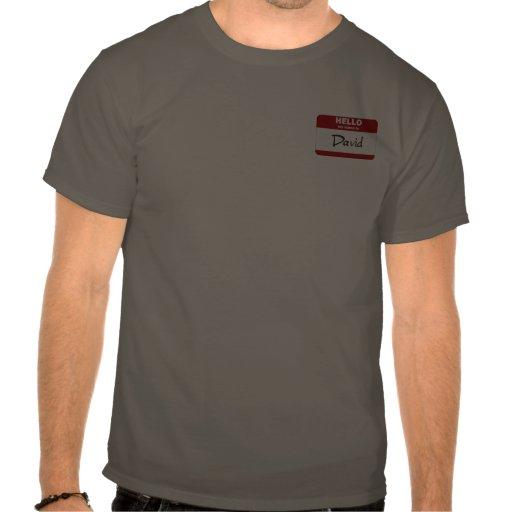 Hola mi nombre es David (rojo) Camisetas