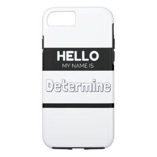Hola mi nombre es determina negro funda iPhone 7